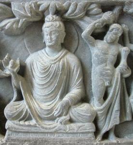 Herakles, Buddha segítője