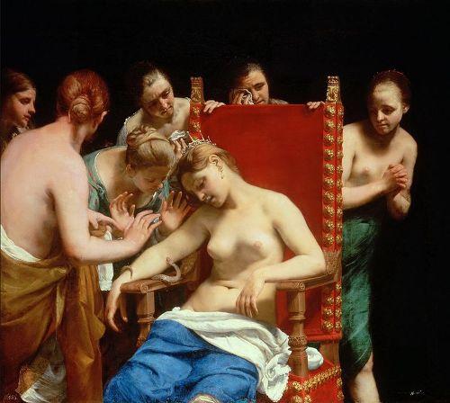 1 Cagnacci (1601 – 1663) Kleopatra (Kr.e. 70k – 30) halála
